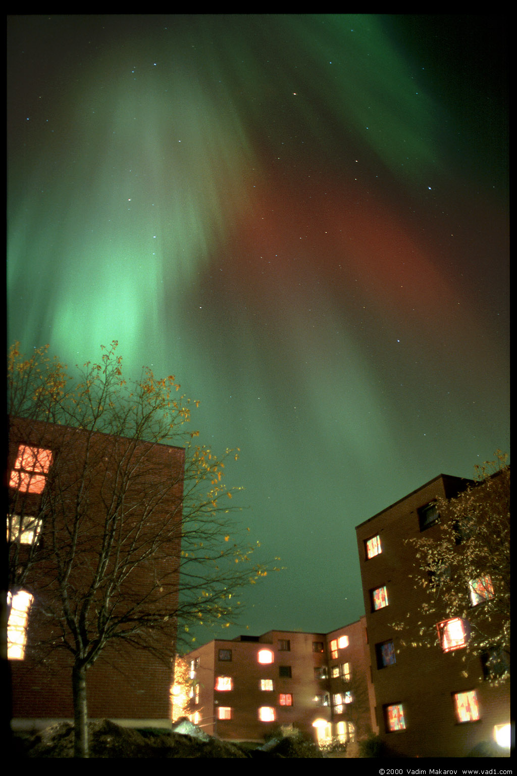 Photo: Northern lights over Moholt student village