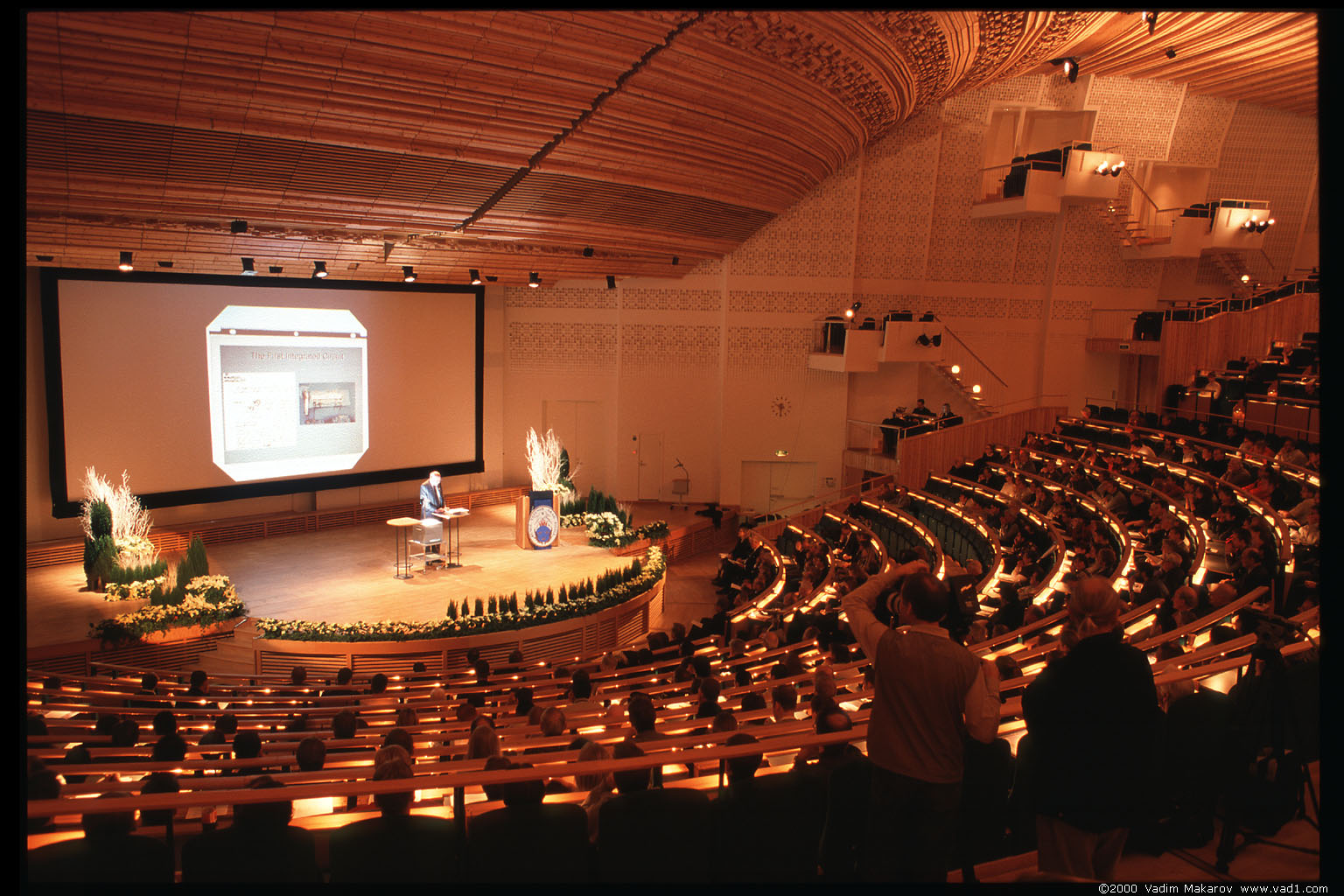 Photo: Jack S. Kilby's Nobel Lecture in Aula Magna