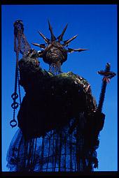 'Statue of Liberty' in Christiania, Copenhagen