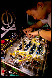 Qin Liu assembles faked-state generator (3)