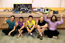 Team of researchers after completing a joint experiment in Singapore