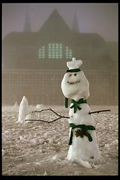 Snowman at NTNU